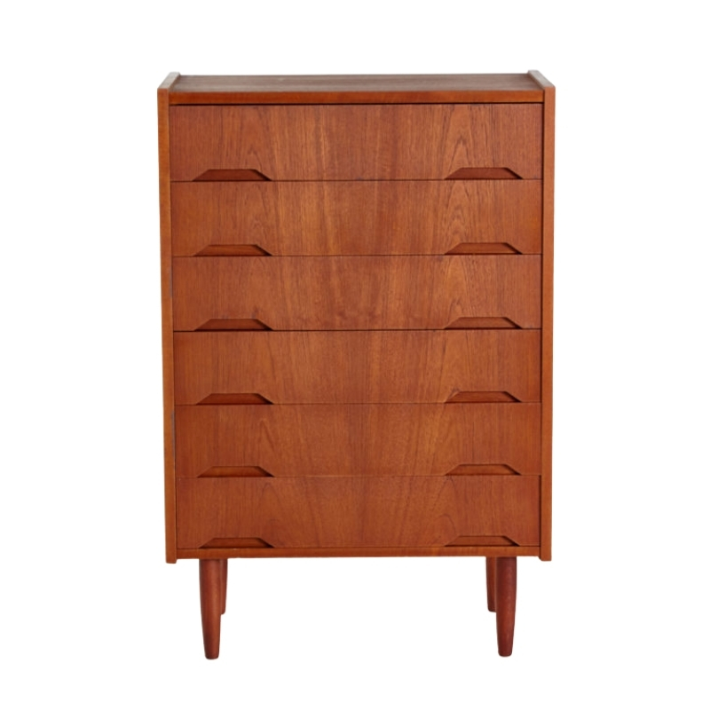 Restored teak chest of drawers