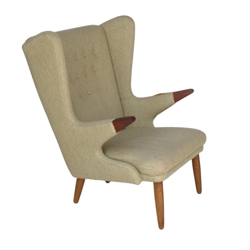 Vintage Scandinavian Papa Bear Chair by Svend Skipper, 1950s