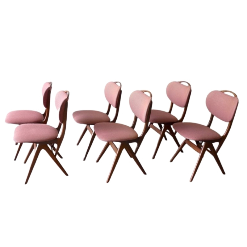 Vintage Teak Chairs from Pynock, Set of 6