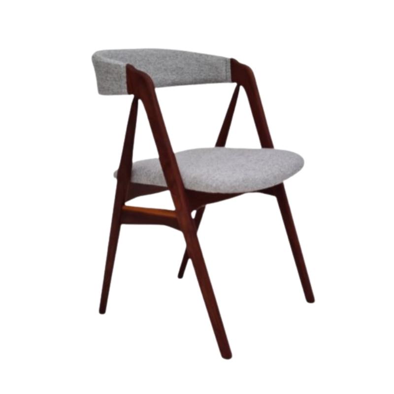60s, Danish chair by Kai Kristiansen, renovated, KVADRAT furniture wool