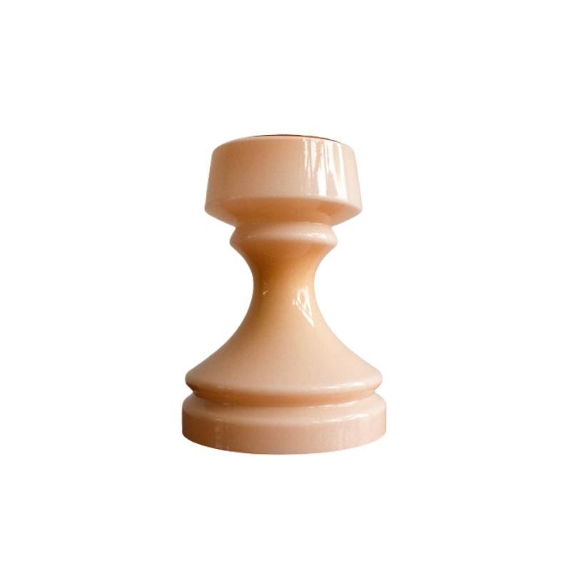 Chess Tower Pink Table Lamp by Ivan Jakeš for Glasswork Valašské Meziříčí, 1970s