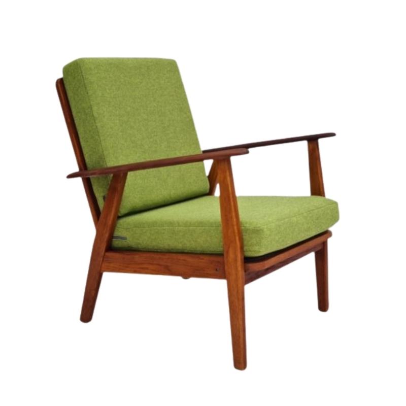 Danish design, 60s, renovated armchair, KVADRAT furniture wool fabric