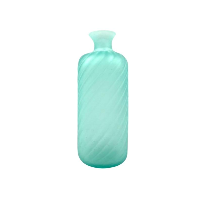 Gino Cenedese, Murano frosted glass aqua green vase, Cenedese, Murano Italy 1970s