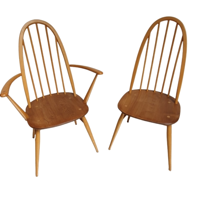 Pair of Armchair and Windsor chair – Lucian ERCOLANI