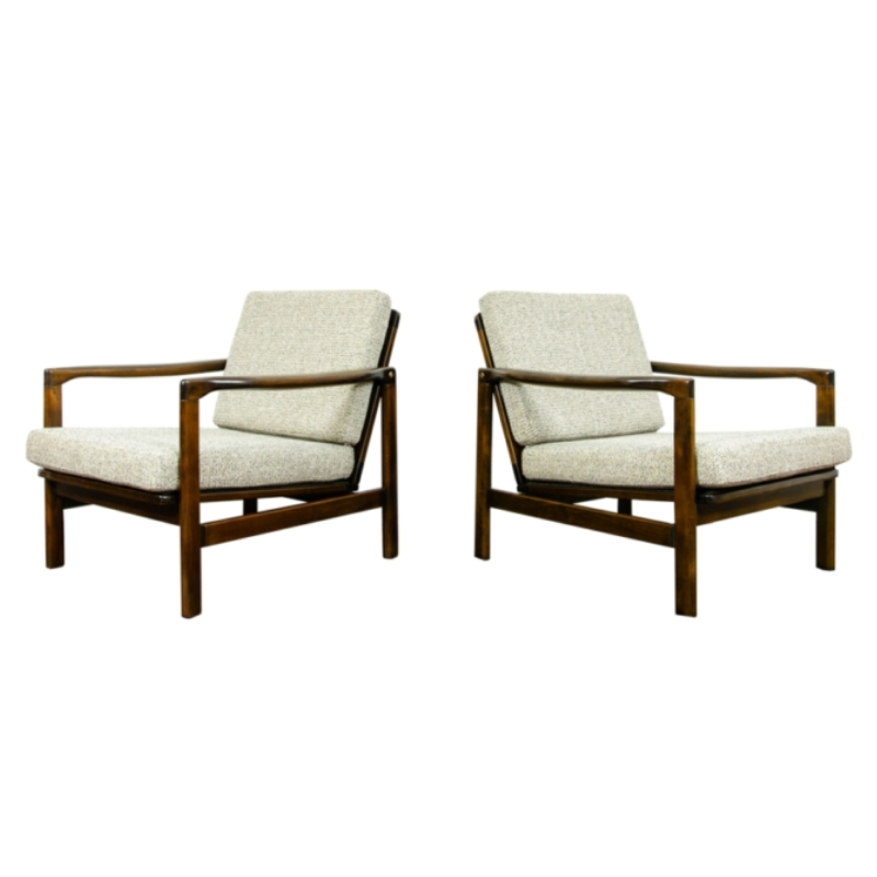 Pair of B-7522 armchairs by Zenon Bączyk, 1960's