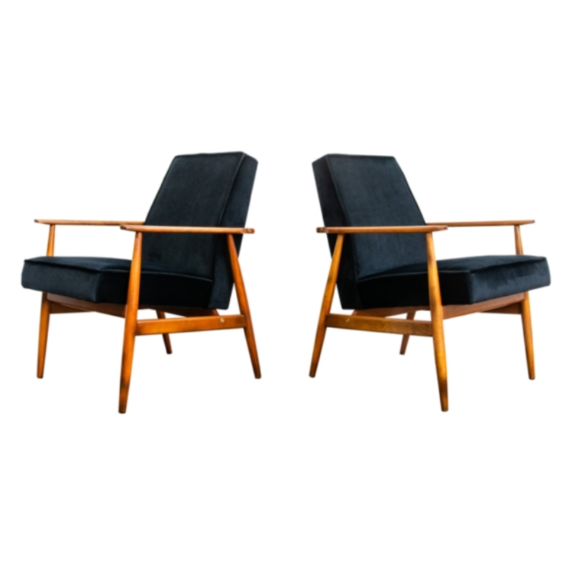 Pair of armchairs type 300-190 by H. Lis 1960