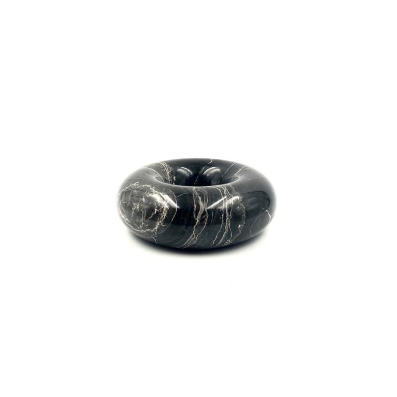 Sergio Asti, black marble ashtray bowl, UP&UP, Carrara Italy, 1970s