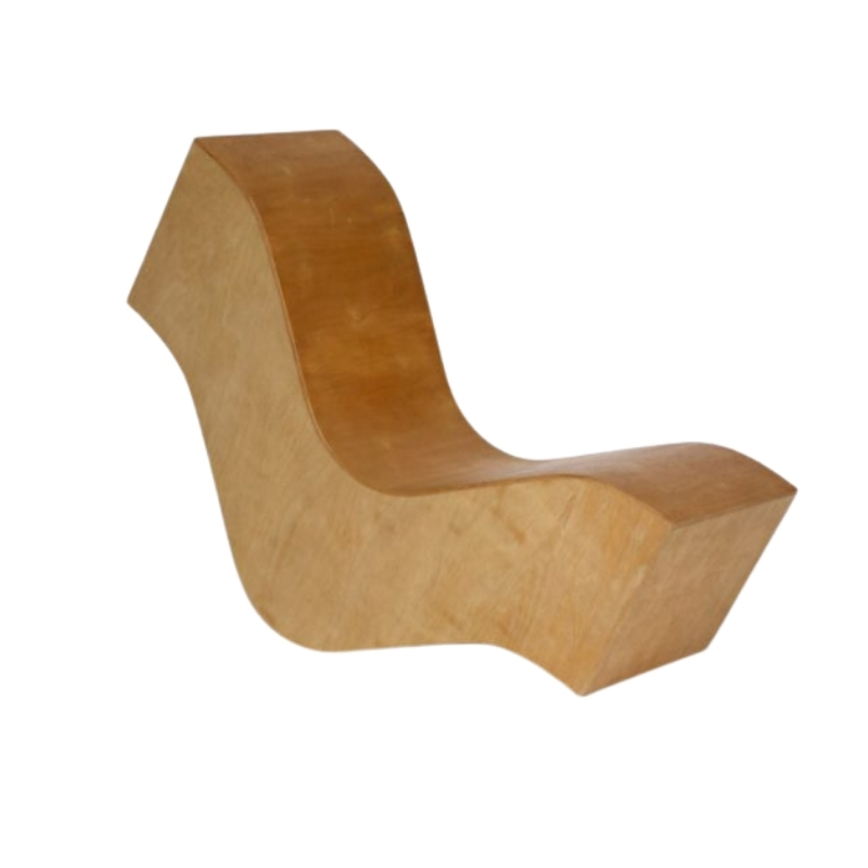 Vintage Plywood Wiggle Chair. 1980s