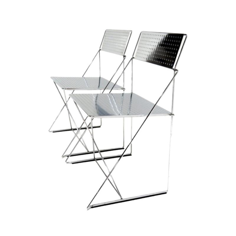 X-line chairs by Niels Jorgen Haugesen for Magis