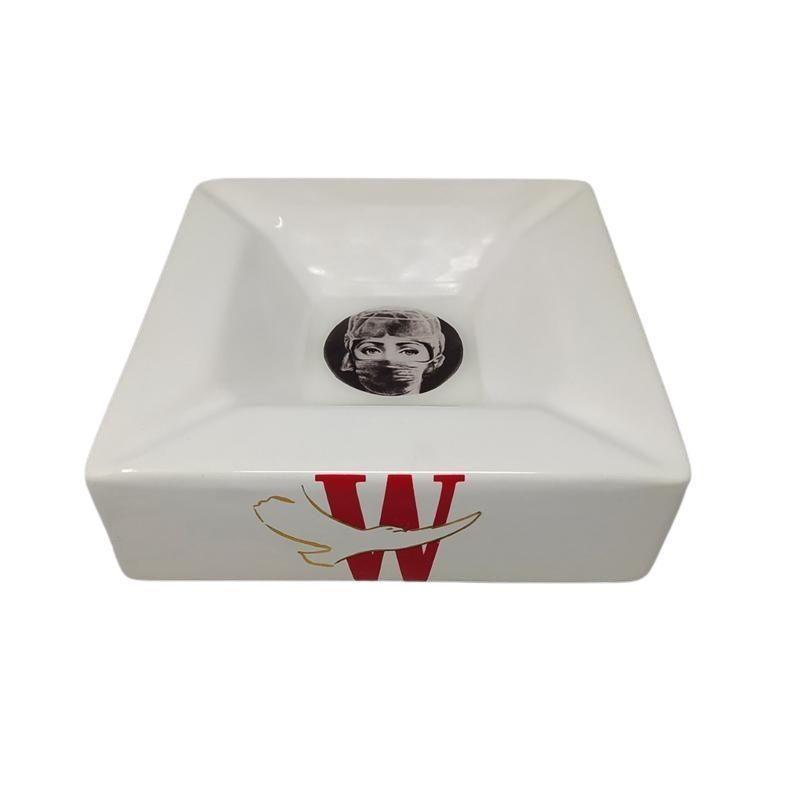 1970s Rare Fornasetti Porcelain Ashtray/Catchall by Piero Fornasetti for Winston