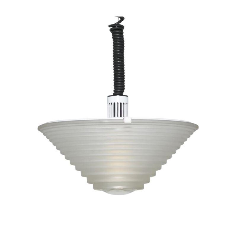 "1970s Angelo Mangiarotti for Artemide ""Egina"" Pendant Lamp. Made in Italy"