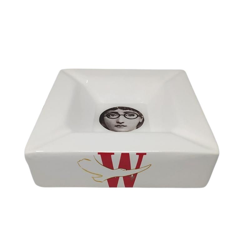 1970s Porcelain Ashtray/Catchall by Piero Fornasetti for Winston