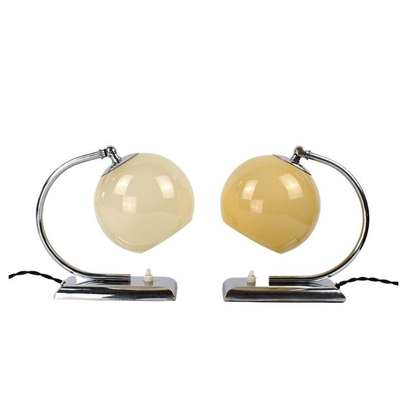 Pair of 1930s Art Deco / Bauhaus Table Lamps / Bedside Lamps