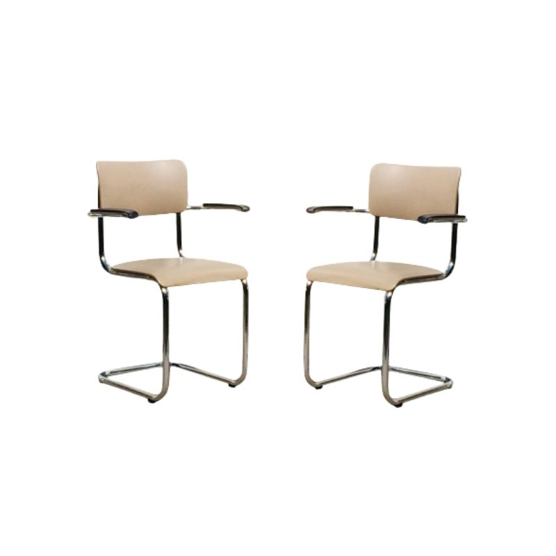 Pair of 60s Tubax chairs. Vintage.