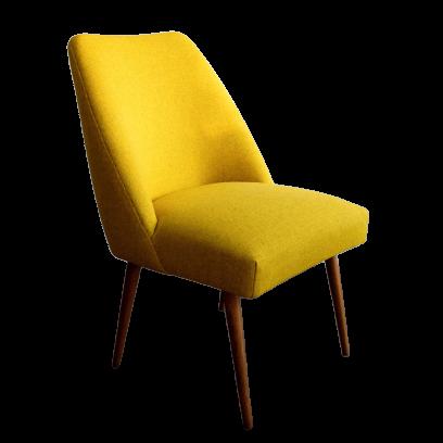 Vintage Yellow German Club Chair in Kvadrat Wool, 1960s