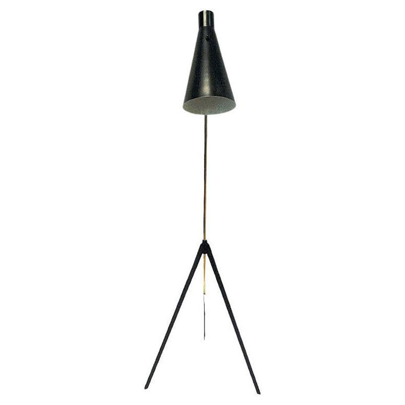 Metal and brass floorlamp by Alf Svensson for Bergboms Sweden 1950s